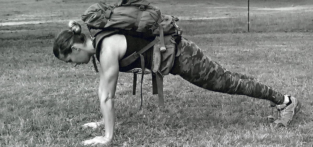 Push-Ups with Backpack