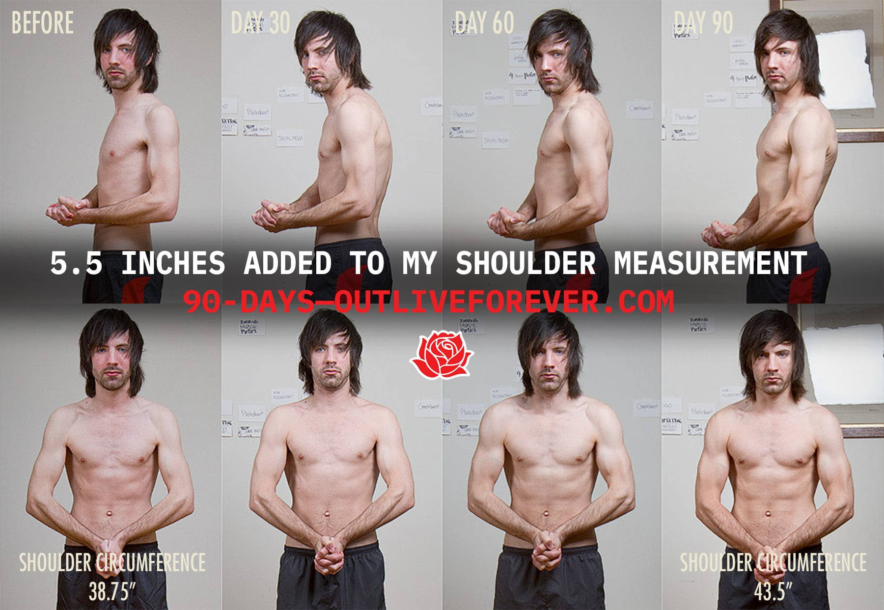Jared Polowick Ectomorph Transformation Before and After