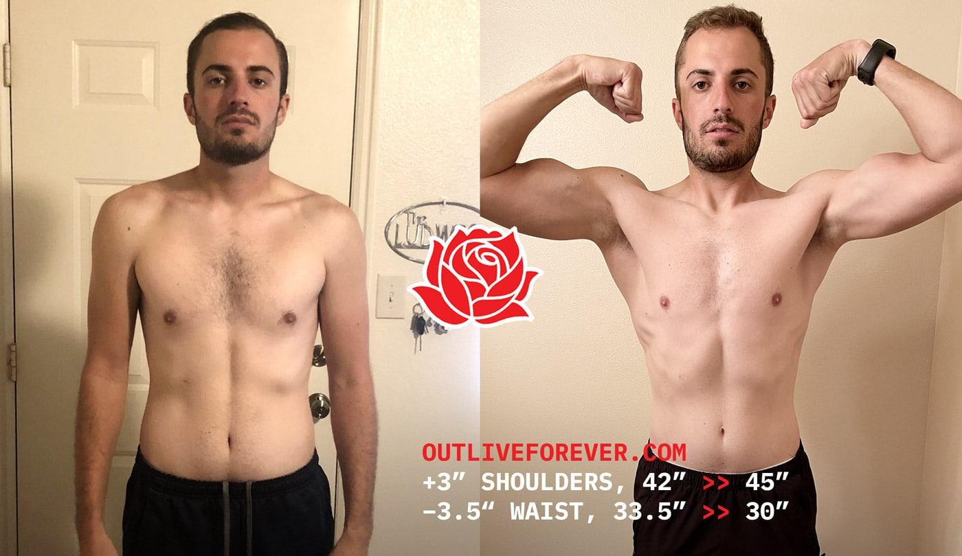 Skinny-Fat Body Transformation Before And After to Gain Muscle